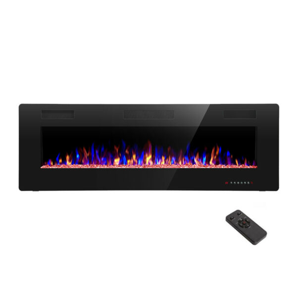 42quot; Electric Fireplace Recessed Wall Mounted and in Wall Fireplace Heater