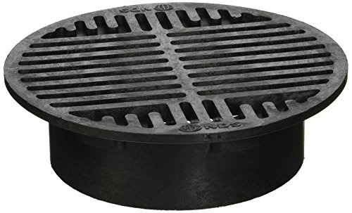 NDS 10 Plastic Round Grate 8 Inch Black