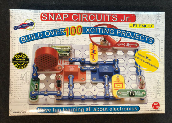 NEW Snap Circuits Jr Electronics Kit 100 Projects Factory Sealed