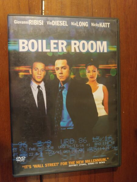 BOILER ROOM  DVD includes case $4.00