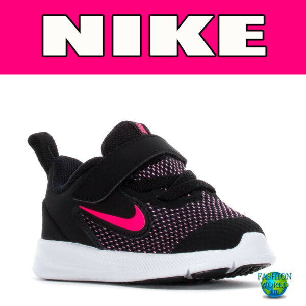 Nike Toddler Size 7C Downshifter 9 TDV Black Pink White AR4137 003 New In Box $39.59