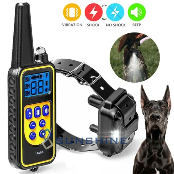 Remote Rechargeable Dog Shock Control Training Collar Waterproof Range 2600ft $31.83