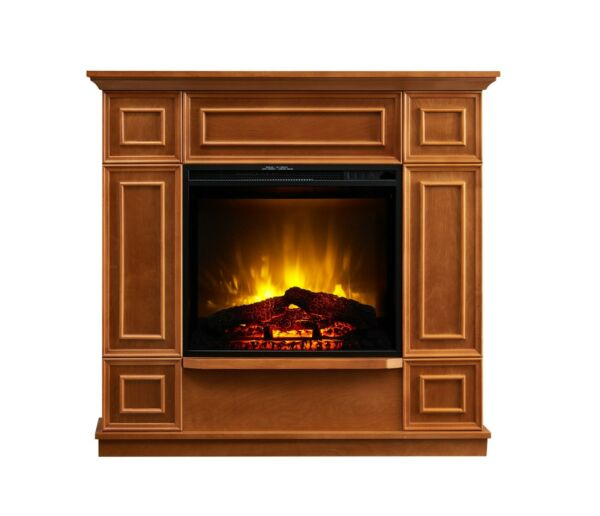 Bold Flame 43.31 Inches Electric Fireplace In Golden Oak Adjustable Temperature