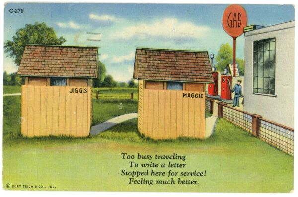 Too Busy Travelling Stopped Here For Service Rest Stop And Gas PA Postcard $29.99