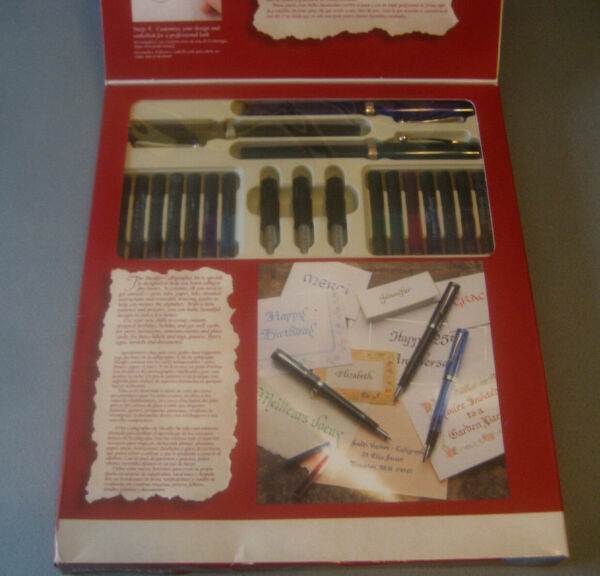 Sheaffer Calligraphy SET 3 fountain pens ink instructions Fine Lettering unused