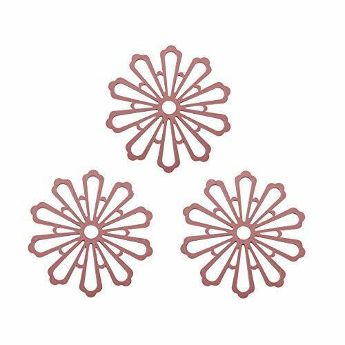 Silicone Pan Protectors,Set of 3 Heat Resistant and Non Slip Silicone Wine Red $6.59