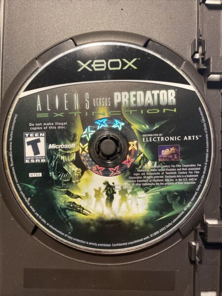 Aliens Vs Predator Extinction Xbox 2003Mint Read Surface Disc Only Tested Works