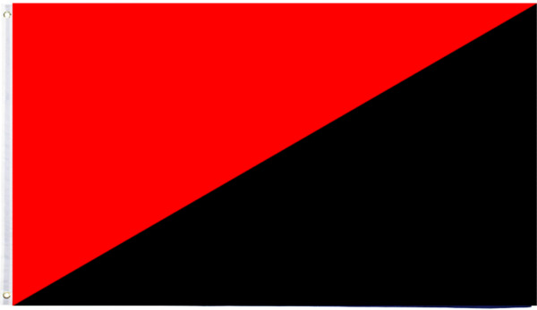 PringCor 3x5FT Solid Red and Black Anarchy Anarchist Flag Dorm Man Cave Protest