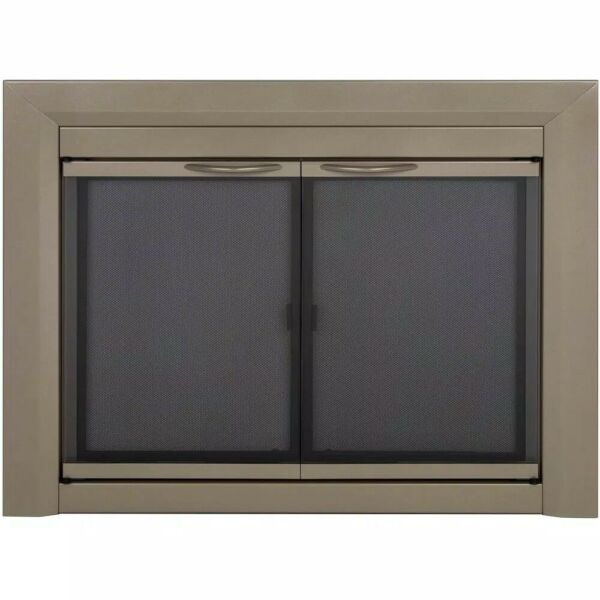 Colby Small Glass Fireplace Doors by Pleasant Hearth