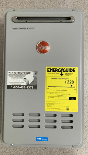 Rheem Plus 8.4 GPM Natural Gas Outdoor Tankless Water Heater ECO180XLN3 1
