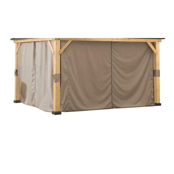 Original Manufacturer Sunjoy Universal Replacement Curtain For 9×9 FT Wood...