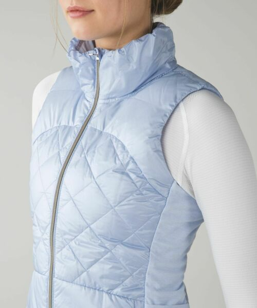 Lululemon Down For A Run Vest Cool Breeze Mauve Goose Down Puffer Glyde 6 RARE $119.99