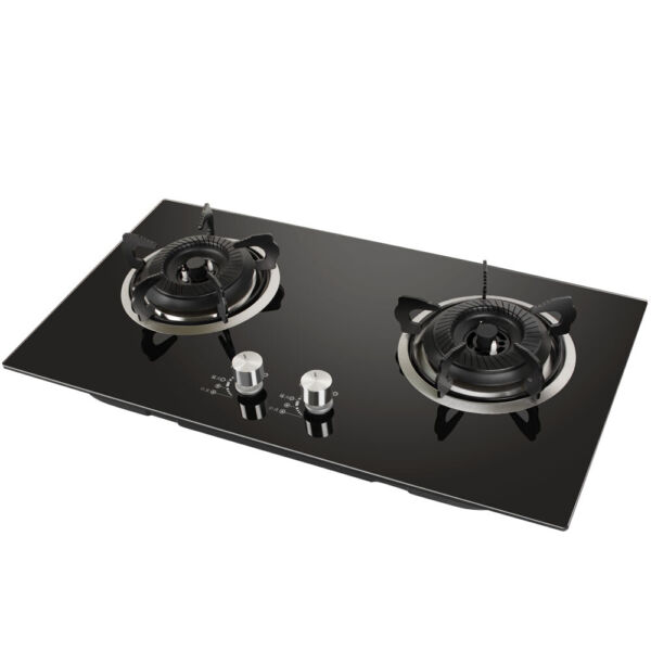Liquefied Gas Stove 2 Burner RV camping Tempere Glass Cooktop Auto Ignition FDA