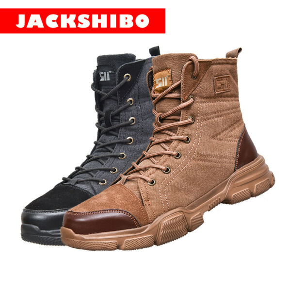 Mens High Top Safety Shoes Indestructible Steel Toe Work Boots Hiking Sneakers $36.99