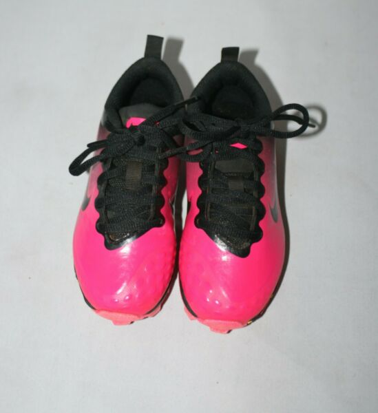 Nike Girls Youth Jr Toddler Cleats Black Pink Yellow Size 11C $34.77