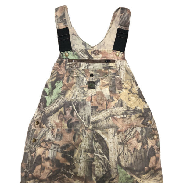 Liberty REALTREE Hunting Camo Bib Button Fly Overalls Men#x27;s 42 Regular