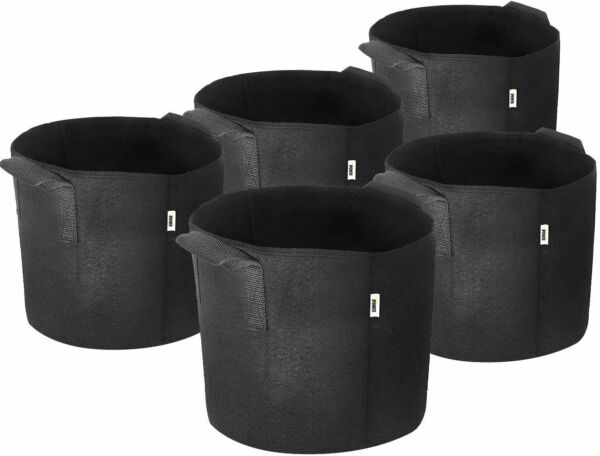 iPower Plant Grow Bags Thickened Nonwoven Aeration Fabric Pots Durable Container $8.73