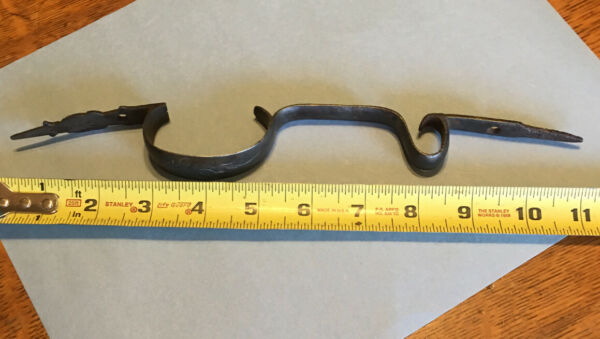19Th Century old Iron Trigger Guard With Scrolling for muzzleloader
