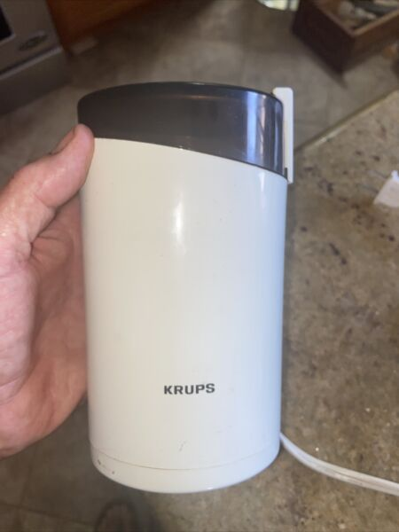 KRUPS Coffee Grinder With Stainless Steel Blades White