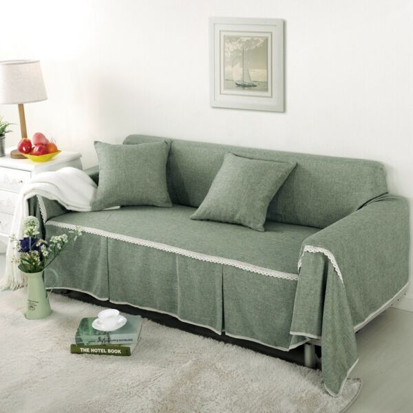 Solid Color Sofa Cover Slipcover Living Room Throw Settee Couch Protector $27.99