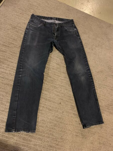 Betaband Mens Jeans Bike To Work Reflective Soft Gusset Crotch 32x30 Rare $30.00