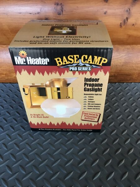 MR HEATER BASE CAMP PRO SERIES INDOOR PROPANE GAS LIGHT GRAY COLOR