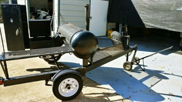 BBQ Smoker Grill Mobile Trailer