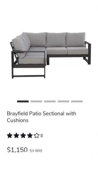 Brayfield Patio Sectional With Cushions