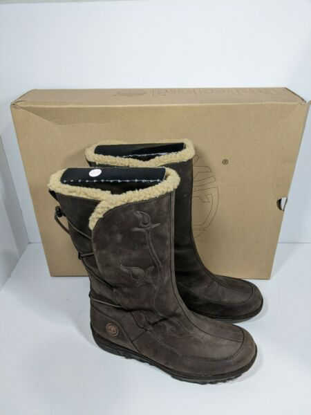 Timberland Womens Boots Crystal Mountain Mid Size 9.5 M Leather Waterproof $69.99
