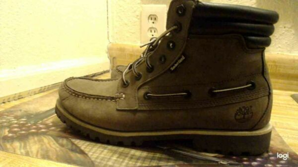 mens timberland boots gray size 10 used but very good condition $49.99