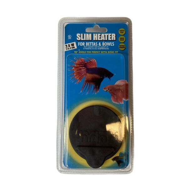 New Hydor Slim Heater for Bettas and Bowls 7.5W up to 5 gallons $19.95