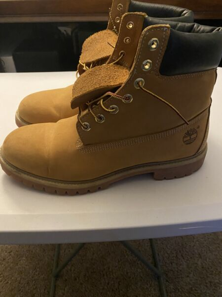 Mens wheat timberland boots size 12 $75.00