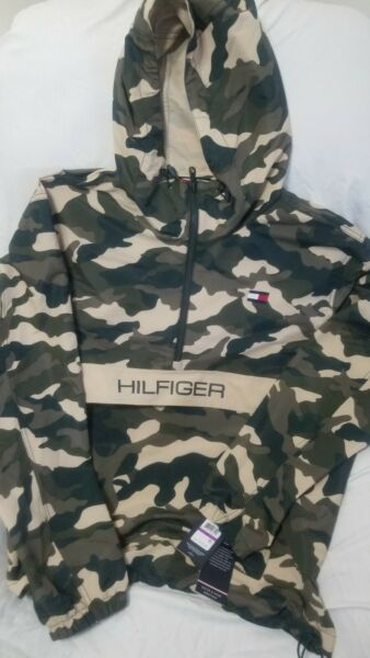 NWT Tommy Hilfiger Camo Wind Water Resistant Pullover Hooded Jacket XXL... $89.99
