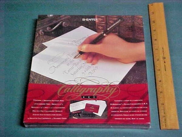 SEALED Sheaffer Calligraphy set NEW in Box Step by Step Introductory Guide