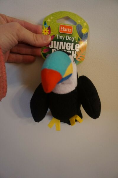 NWT HARTZ DOG TOY JUNGLE PLUSH PARROT WITH SQUEAKER $5.99
