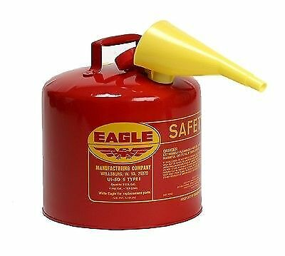 Eagle Safety Gas Can 5 Gallon OSHA amp; NFPA Approved In Box EAG UI 50 FS