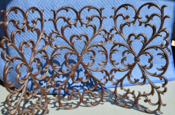 Rustic cast iron fireplace screen
