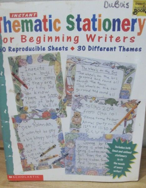 instant THEMATIC STATIONARY for Beginning Writers $4.00