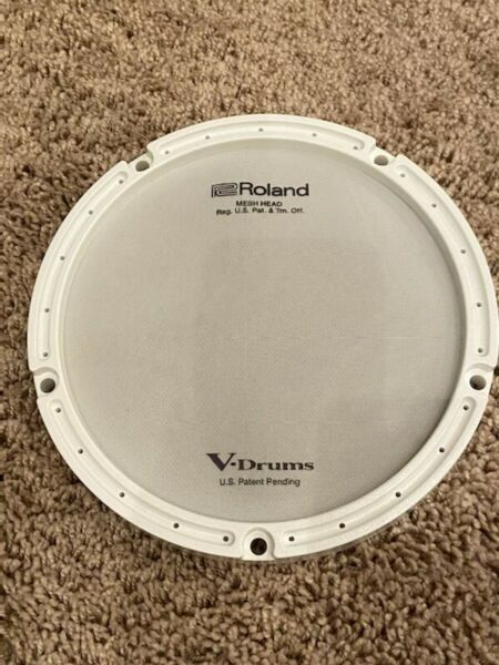 Roland PDX 6 Replacement Mesh Head with White Ring NEW FREE SHIPPING
