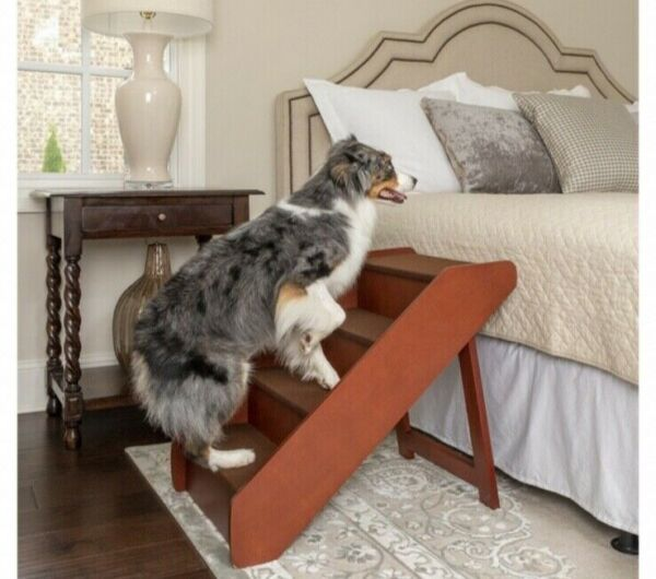 Deluxe Foldable Wooden Pet Stairs for Cats or Dogs High Quality Fast Shipping