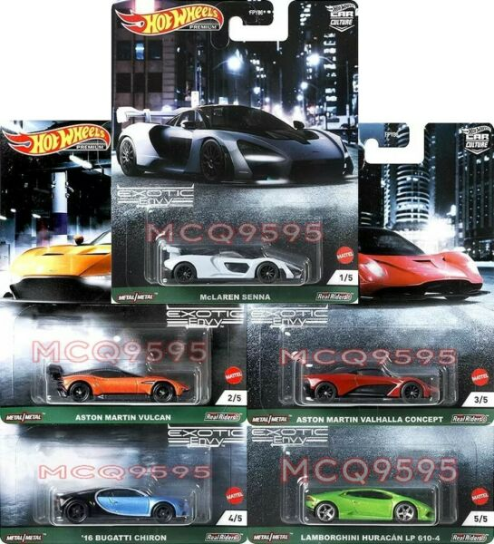 HOT WHEELS 2021 CAR CULTURE EXOTIC ENVY COMPLETE SET OF 5 CAR IN STOCK $27.99