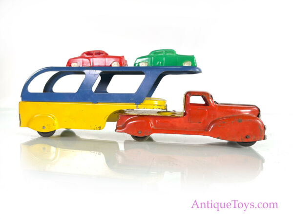 Marx Car Carrier in Pressed Steel Toy $245.00