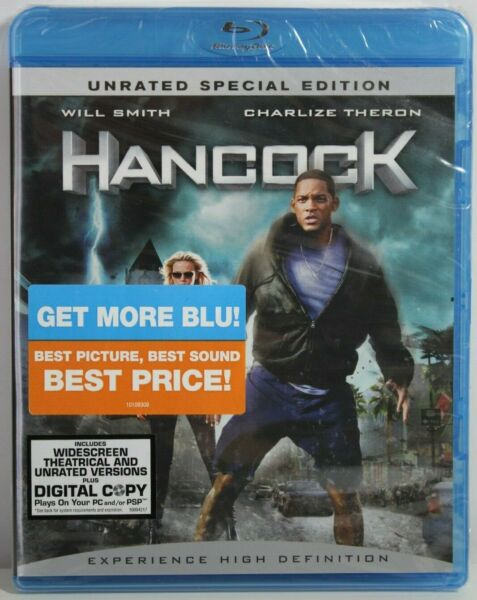 Hancock Blu ray Disc 2008 2 Disc Set Unrated Special Edition Brand New