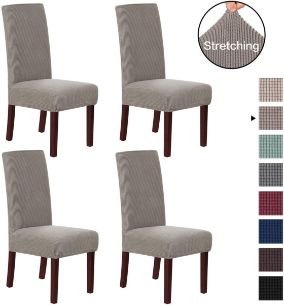 2X Chair Covers Stretch Slipcover Removable Furniture Protector for Dining Room $15.99