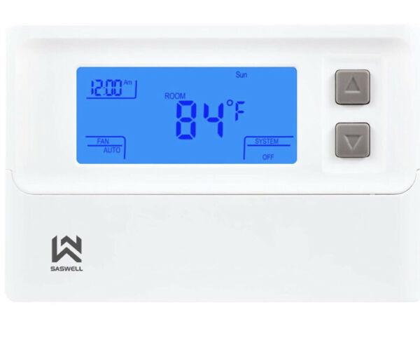 Non programmable Thermostat Heat Pump Thermostat 24 Volt W Backlit Digital $22.99