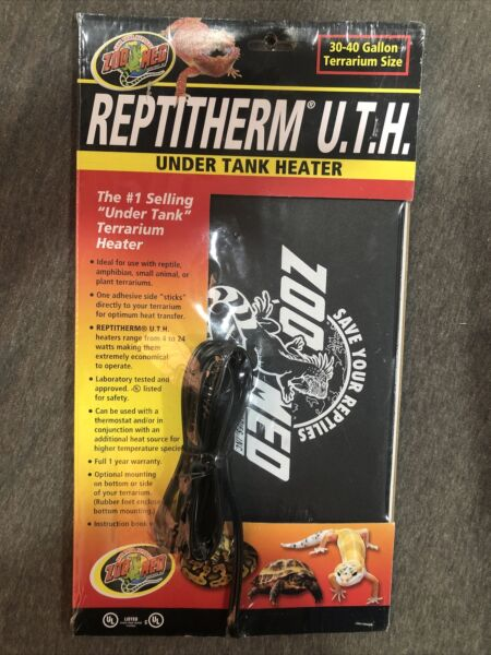 Zoo Med Reptitherm Under Tank Heater UTH 30 40 Gallon 8x12quot; $16.99