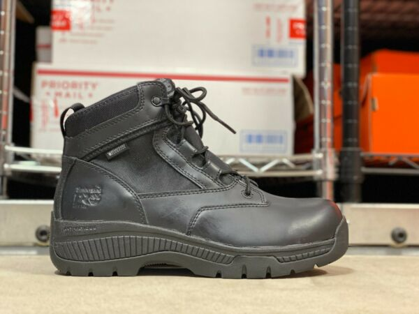 Timberland White Ledge Mid Waterproof Mens Hiking Boots Black NEW Size 8W $114.99