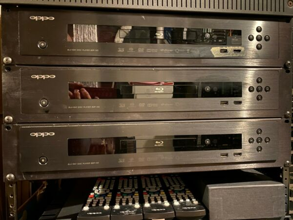 Oppo BDP 103 3D Blu ray Player 7.1 Outputs w Custom rack mount $425.00