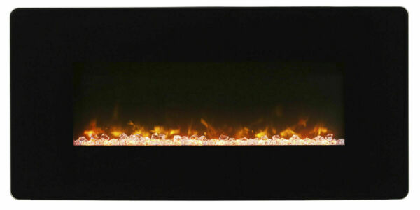 Dimplex Winslow 36quot; Black Curved Wall Mounted Electric Fireplace