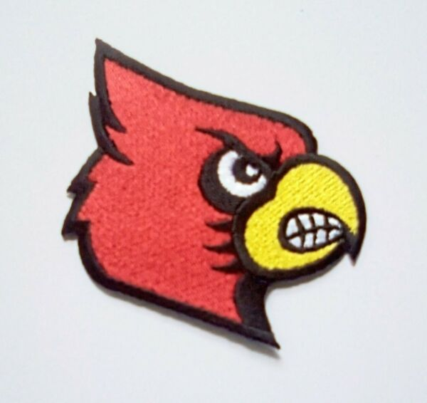 Louisville Cardinals Embroidered 3quot; Iron On Patch